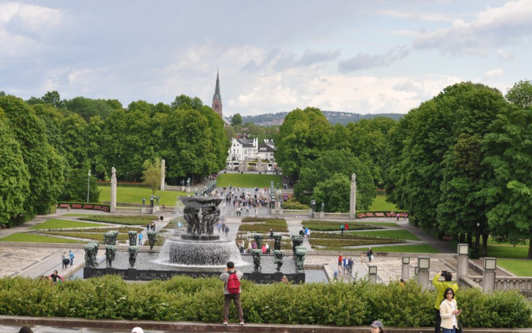 The main axes of the Vigeland sculpture park